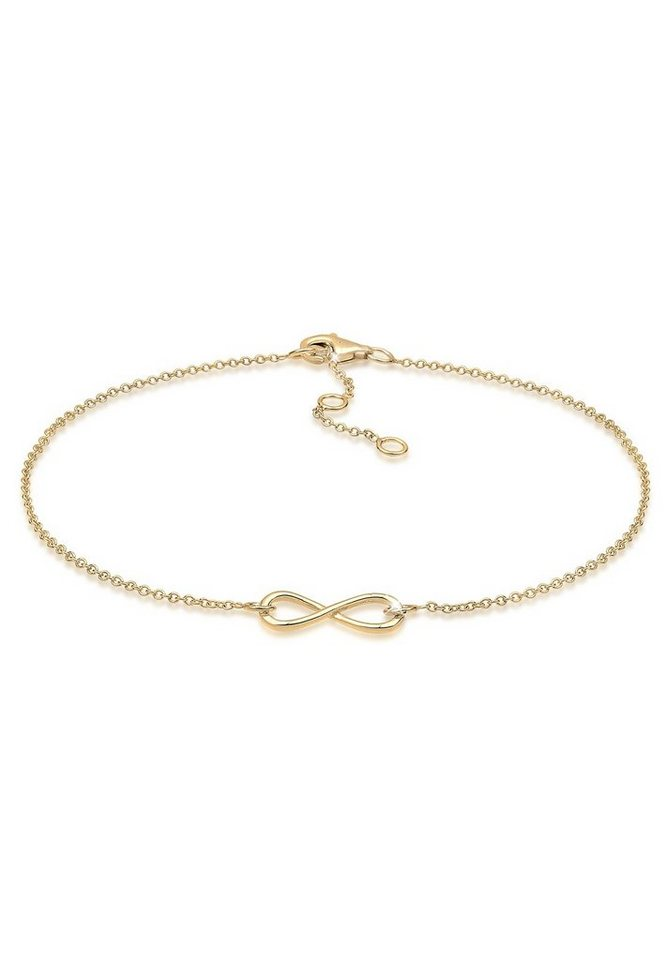 GOLDHIMMEL Fußschmuck »Infinity 925 Silber vergoldet« in Gold