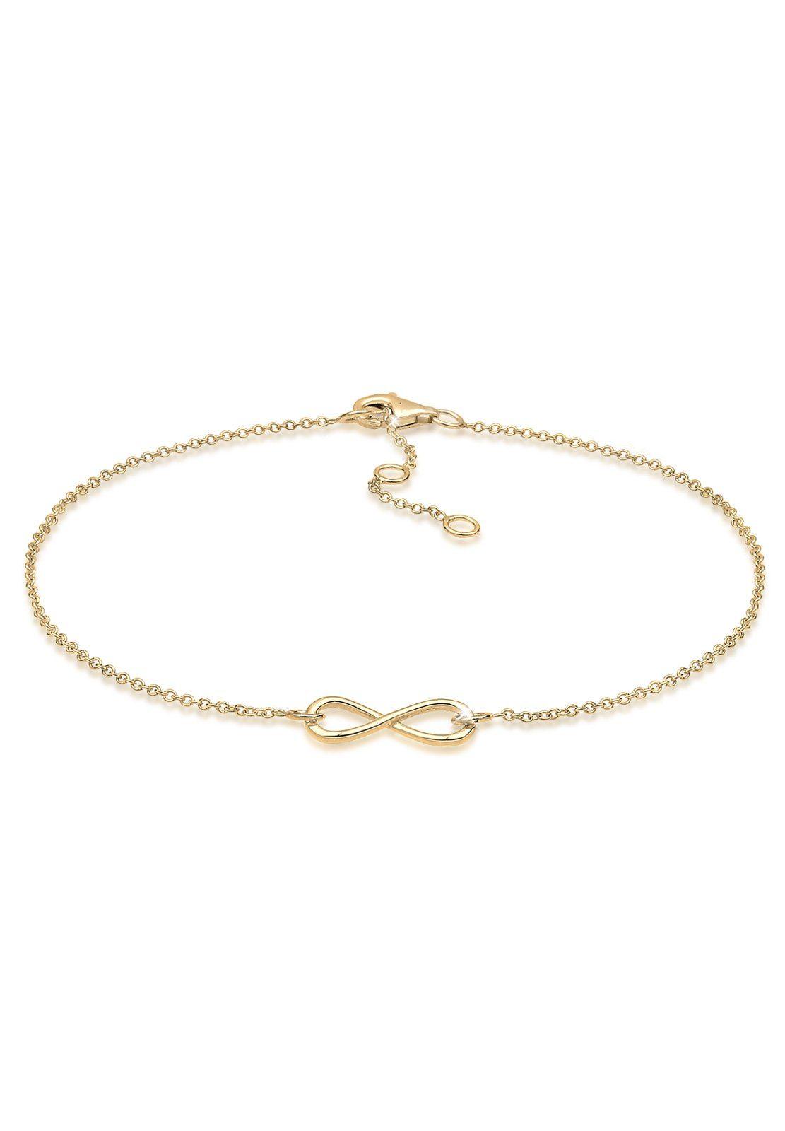 GOLDHIMMEL Fußschmuck »Infinity 925 Silber vergoldet«