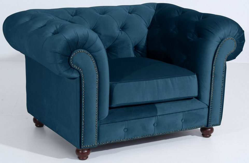 Max Winzer® Chesterfield Sessel »Old England«, mit edler ...