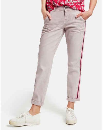 Taifun Stretch-Jeans »7/8 Jeans mit Kontrast-Tape Boyfriend TS« (1-tlg) Boyfriend