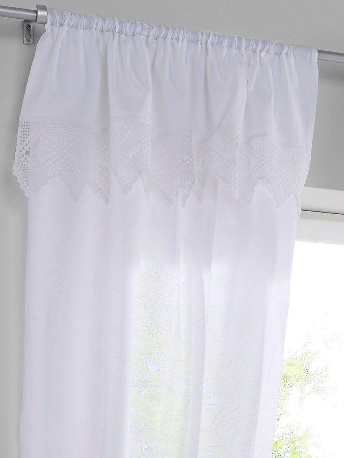 Dekoschal in weiß