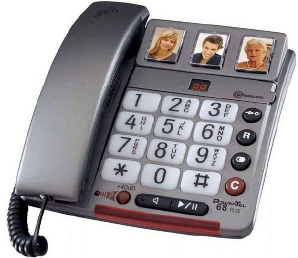 amplicomms Großtastentelefon »PowerTel 68 plus« in Silber