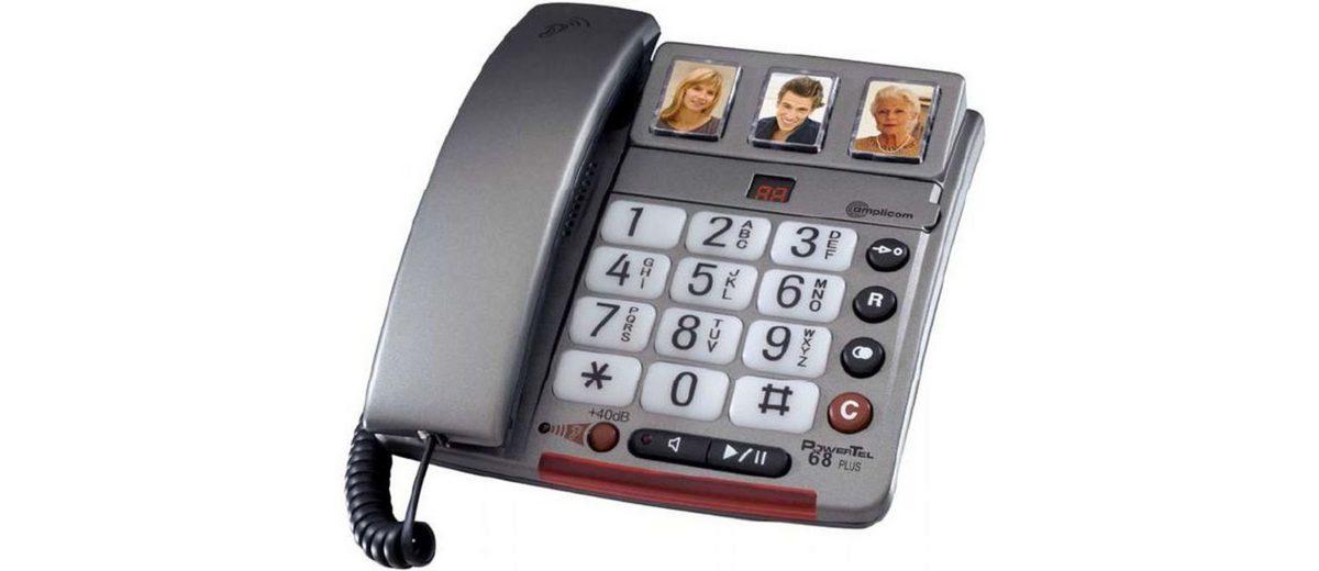 Audioline Großtastentelefon »amplicomms PowerTel 68 plus«