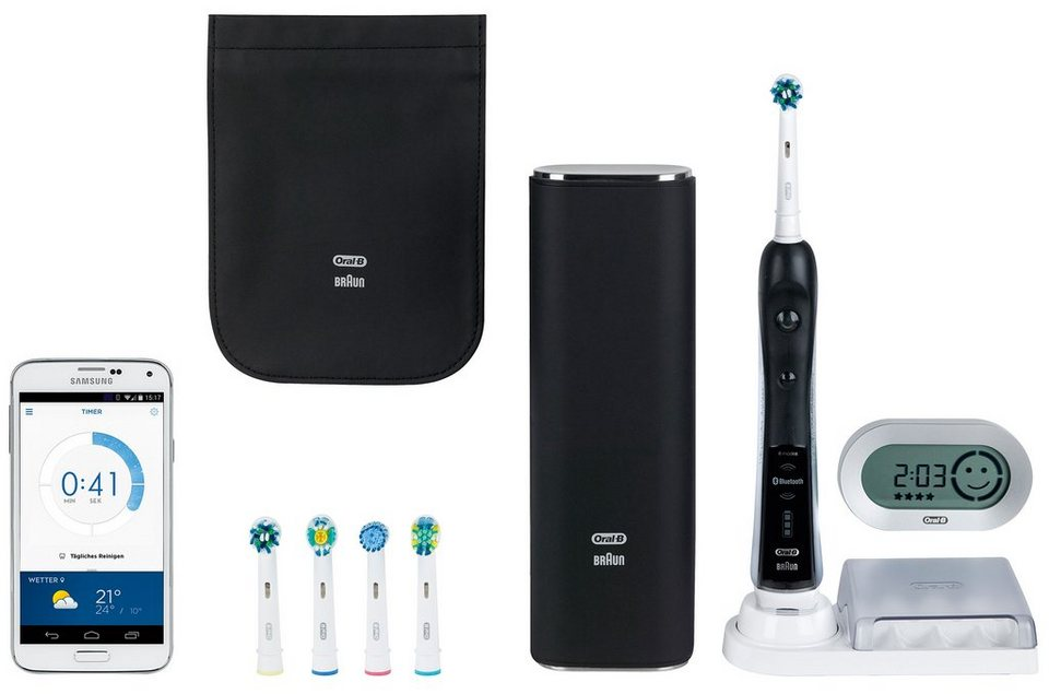 oral b elektrische zahnb rste black pro 7000 smartseries mit bluetooth online kaufen otto. Black Bedroom Furniture Sets. Home Design Ideas