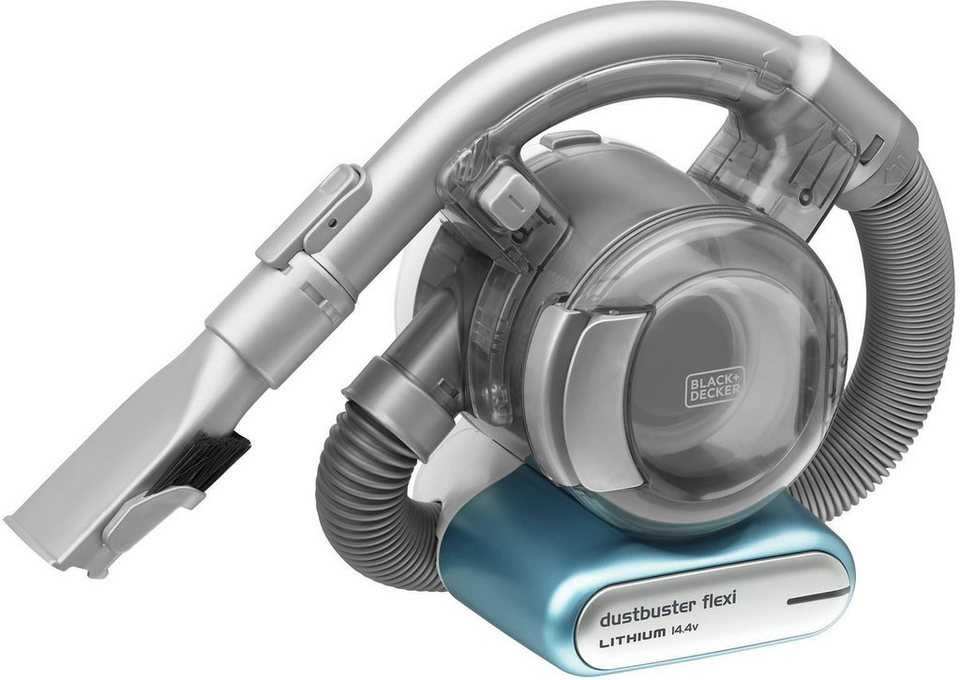 Black + Decker Akku- Handstaubsauger FLEXI PD1420LP, beutellos in blau