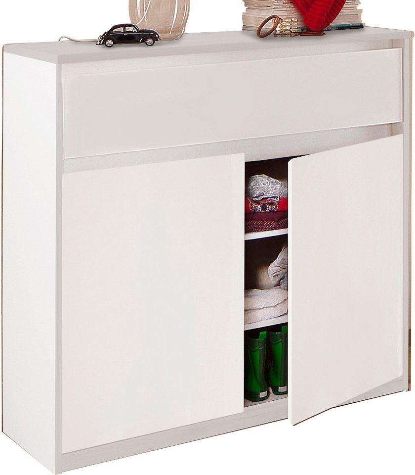 CS »Smart« Schmalmöbel Kommode, Breite 106 cm in weiß-weiß matt
