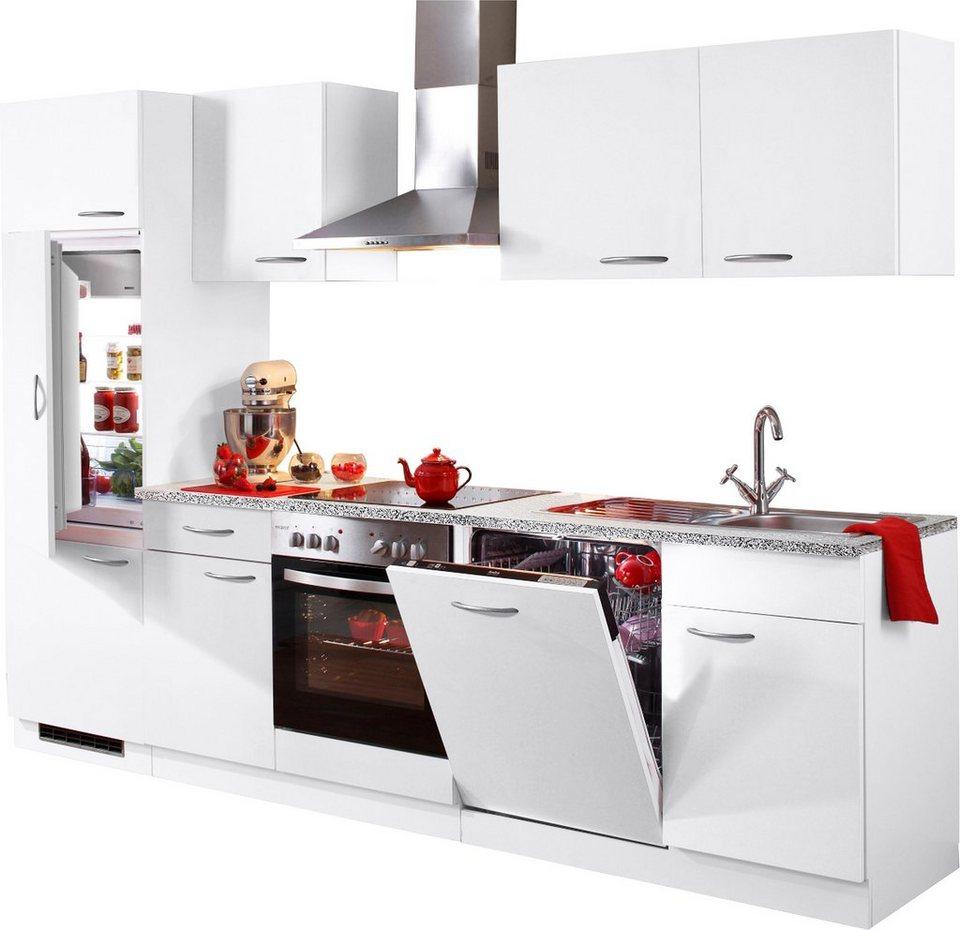 Küchenzeile »Kiel«, Breite 280 cm in Weiß