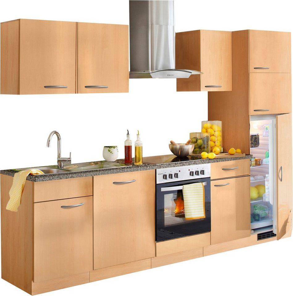 Küchenzeile »Kiel«, Breite 280 cm in Buchefarben