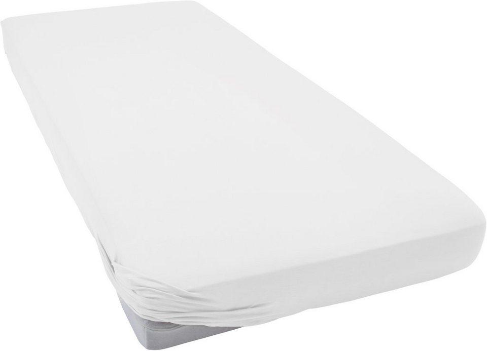 Spannbettlaken, Tom Tailor, »Jersey«, große Farbauswahl in weiß