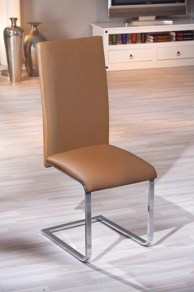 Stühle (1 Stck.) in braun/chrome