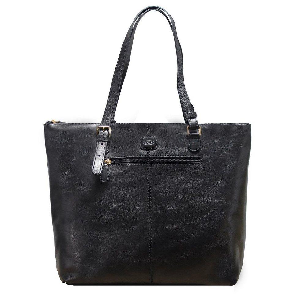 Bric's Life Pelle Shopper Leder 33 cm in black