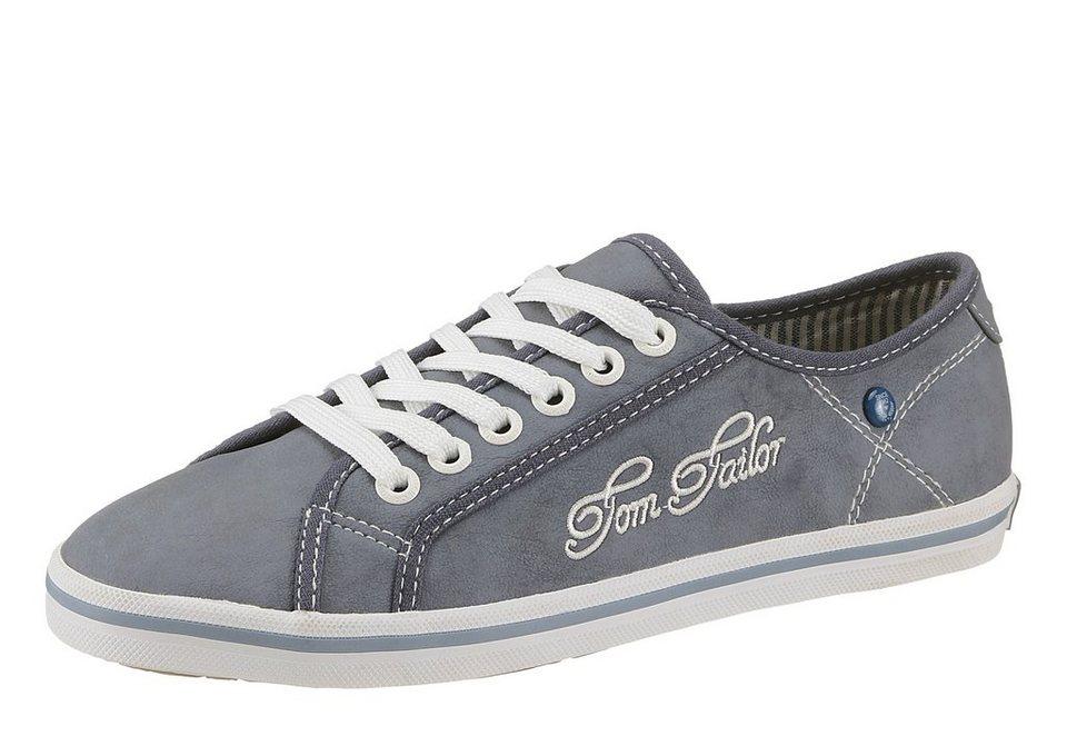 Tom Tailor Sneaker mit Logostickerei in blau