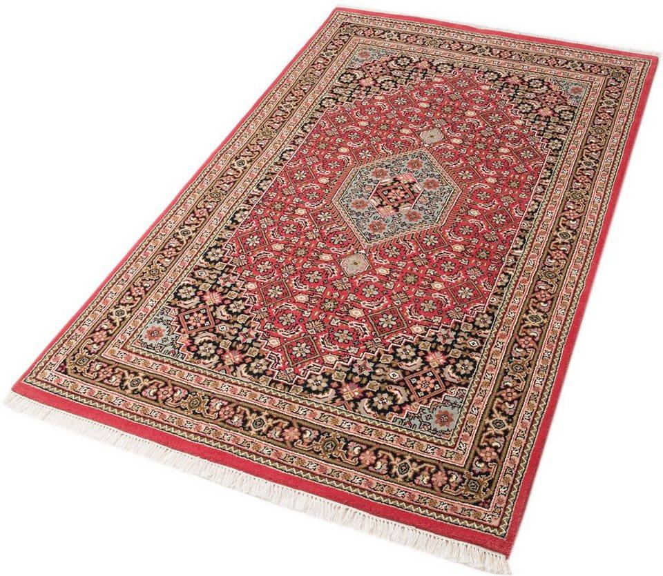 Unikat-Teppich, Parwis, »Indo Royal Bidjar Exclusive«, 155 000 Knoten/m², handgeknüpft in rot