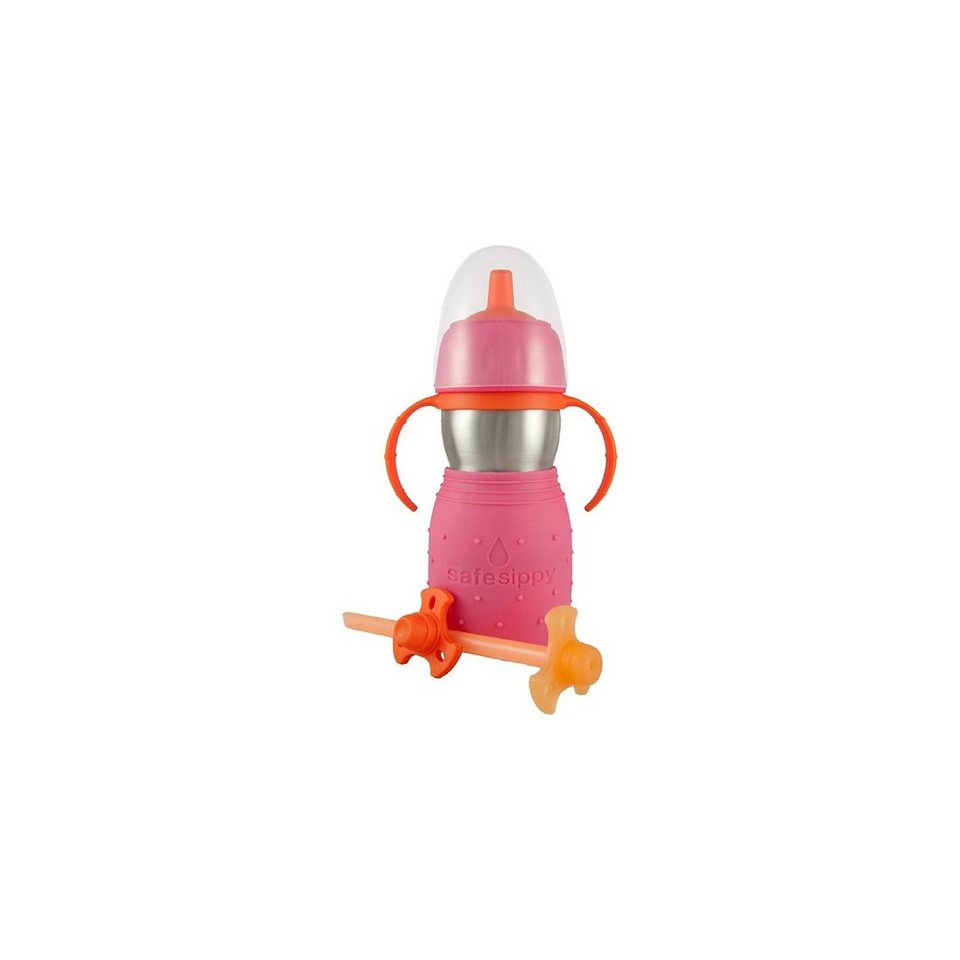 Kid Basix Safe Sippy Trinkflasche, 330 ml in rosa