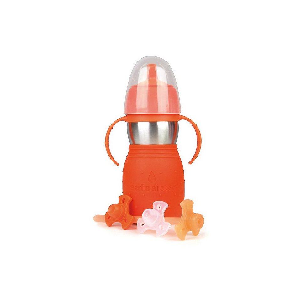 Kid Basix Safe Sippy Trinkflasche, 330 ml in orange