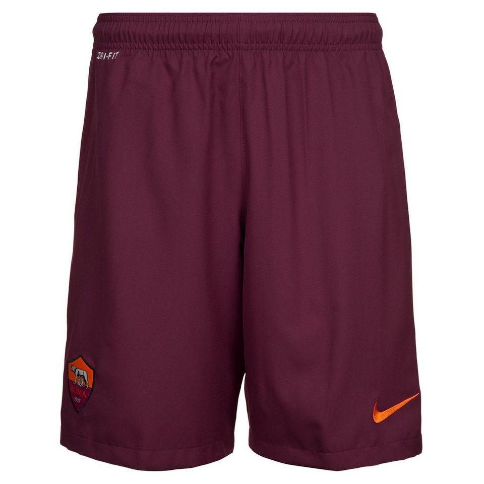 NIKE AS Rom Short Away Stadium 2014/2015 Herren in rot / orange