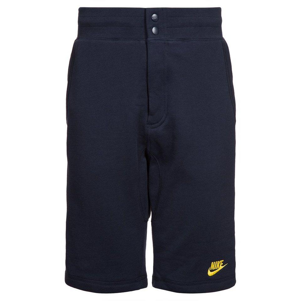 Nike Sportswear FC Barcelona Covert French Terry Venom Short Herren in dunkelblau / gelb