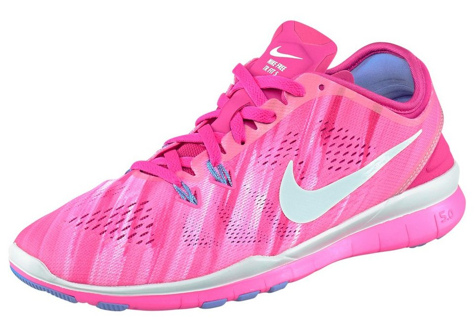 Nike Free 5.0 TR Fit 5 PRT Wmns Fitnessschuh in Pink-Weiß