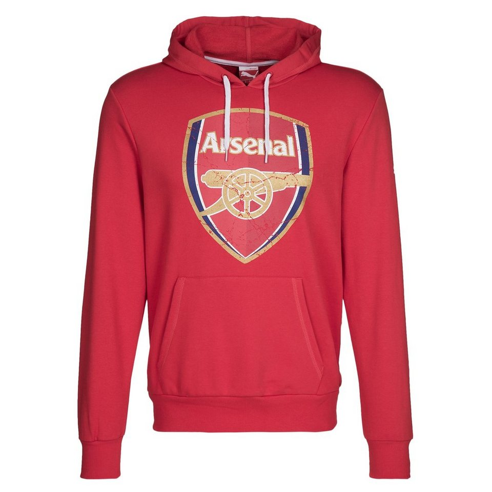 PUMA Arsenal London Fan Kapuzenpullover in rot