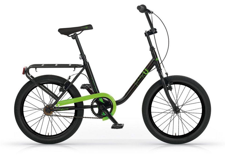 City Cruiser, 20 Zoll, ohne Schaltung, schwarz-grün, »F**K-U! Mod. 565«, MBM in schwarz-grün