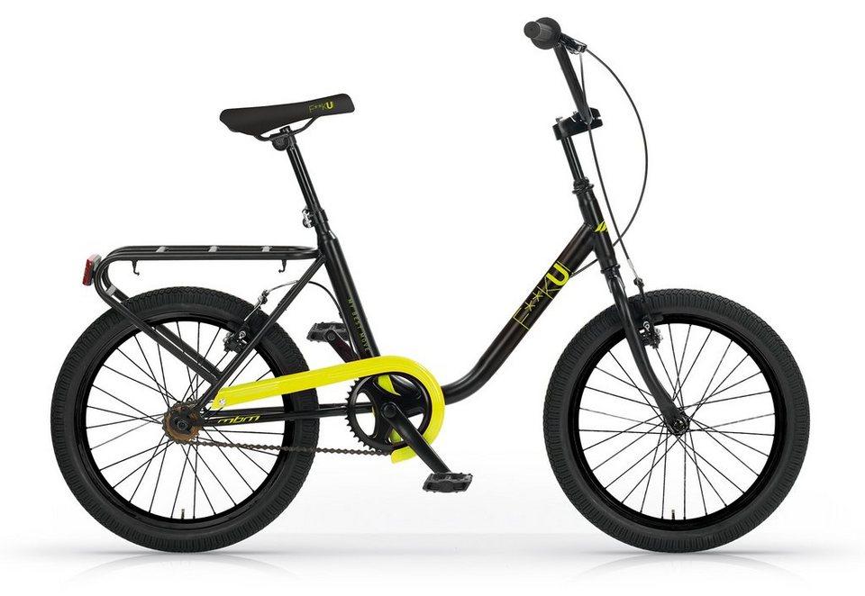 City Cruiser, 20 Zoll, ohne Schaltung, schwarz-gelb, »F**K-U! Mod. 565«, MBM in schwarz-gelb