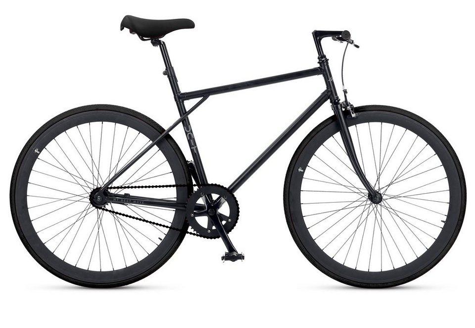 Fitnessbike, 28 Zoll, 1 Gang, Freilauf oder Fixed Gear, »Unit 581 Coaster Brake 1 S«, MBM in schwarz