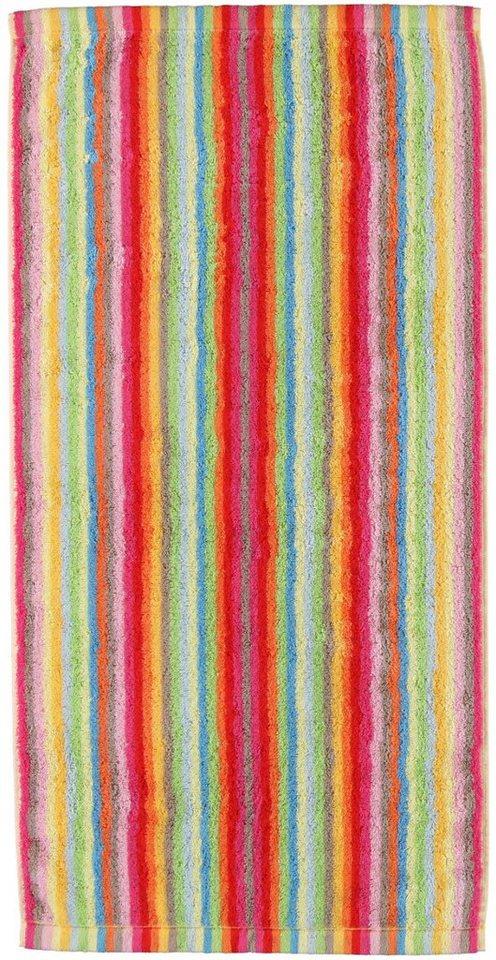 Badetuch, Cawö, »Lifestyle Streifen«, mit farbenfrohen Streifen in multi