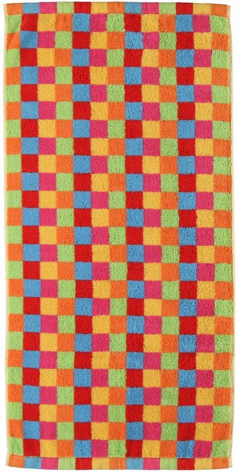 Badetuch, Cawö, »Lifestyle Cubes«, mit bunten Karos in multi