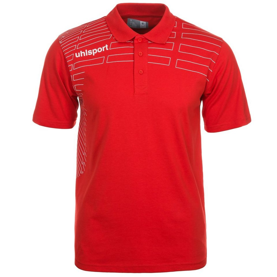 UHLSPORT Match Polo Shirt Kinder in rot/weiß
