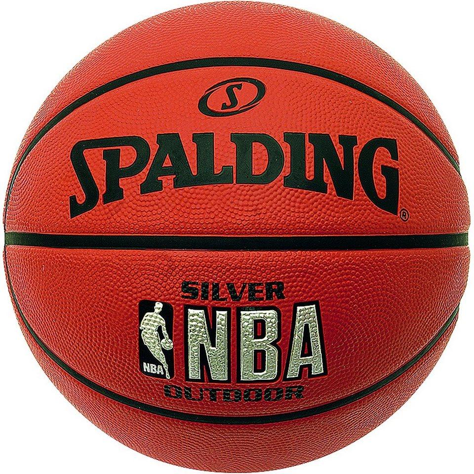 SPALDING NBA Silver Outdoor Basketball in braun