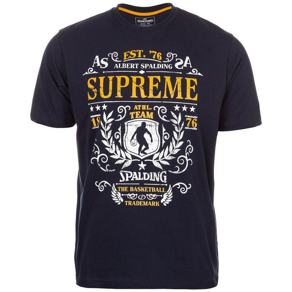 SPALDING T-Shirt Supreme Kinder in marine/orange