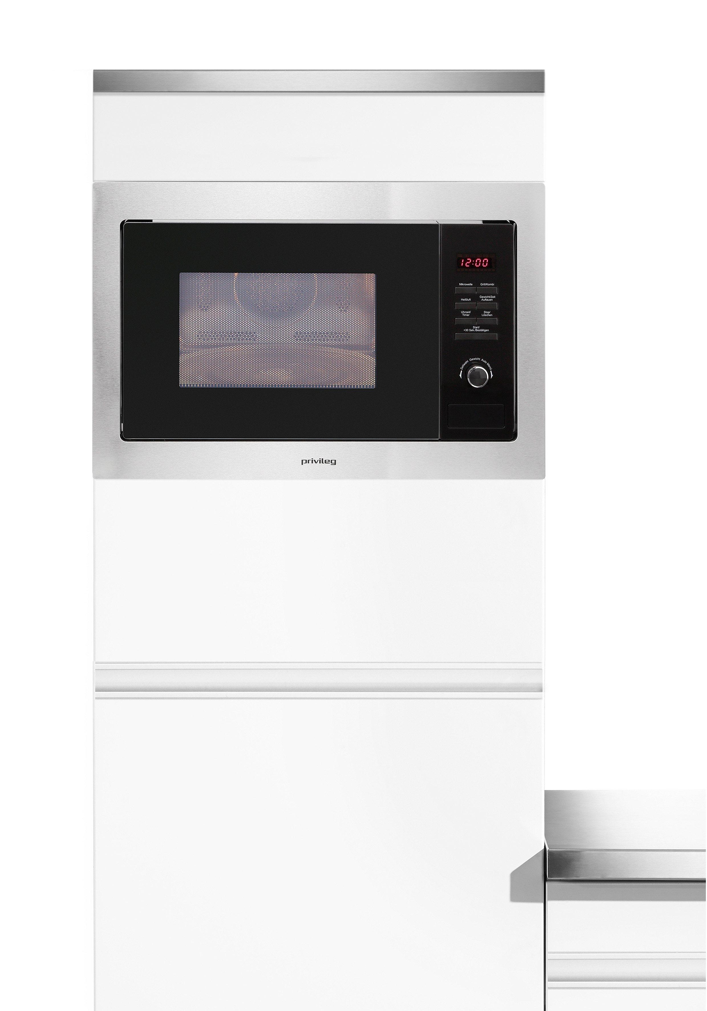 Privileg Einbau-Mikrowelle AC 925 BVE, mit Grill und Heißluft, 25 Liter, 900 Watt - Privileg