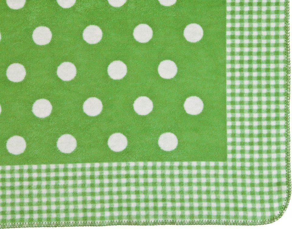Kinderdecke, Ibena, »Punkte«, mit Muster-Mix in grün