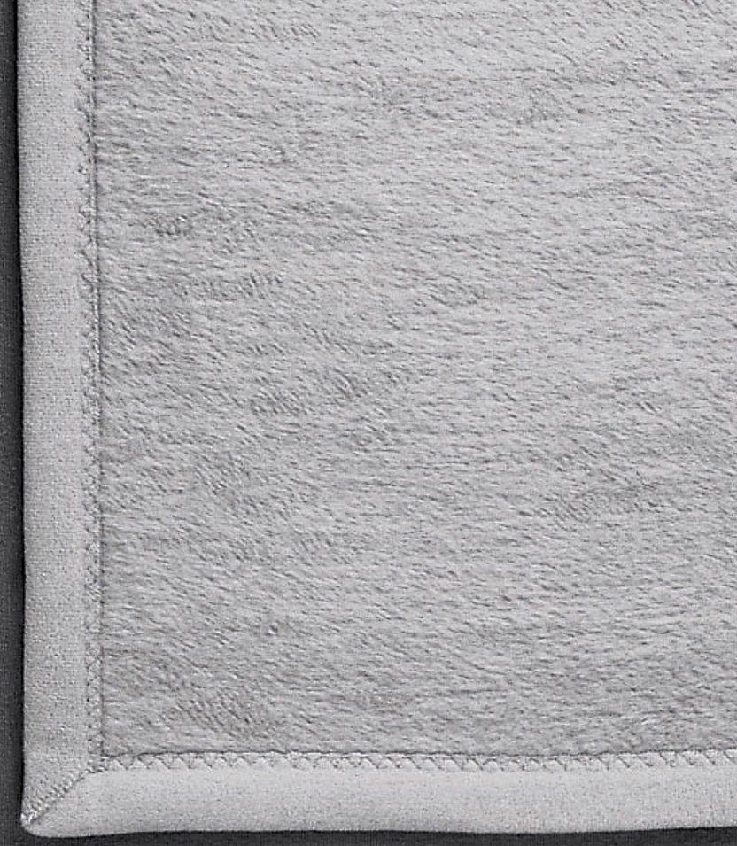Sofaläufer, Ibena, »Uni Micro«, mit Veloursband-Einfassung in silbergrau