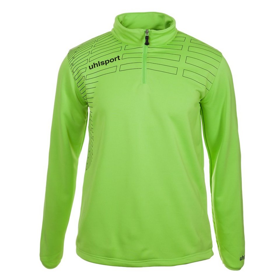UHLSPORT Match 1/4 Zip Top Kinder in grün flash/schwarz