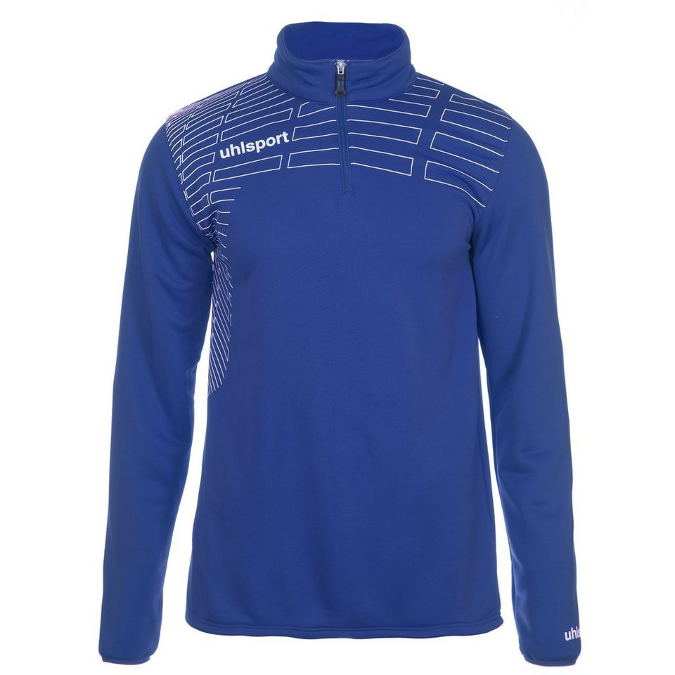 UHLSPORT Match 1/4 Zip Top Kinder in azurblau/weiß