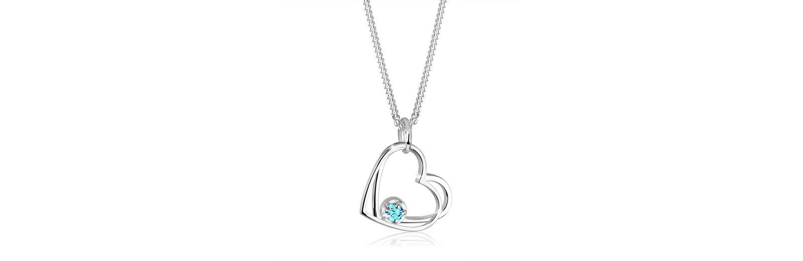 Elli Halskette »Herz Swarovski® Kristalle 925 Silber«