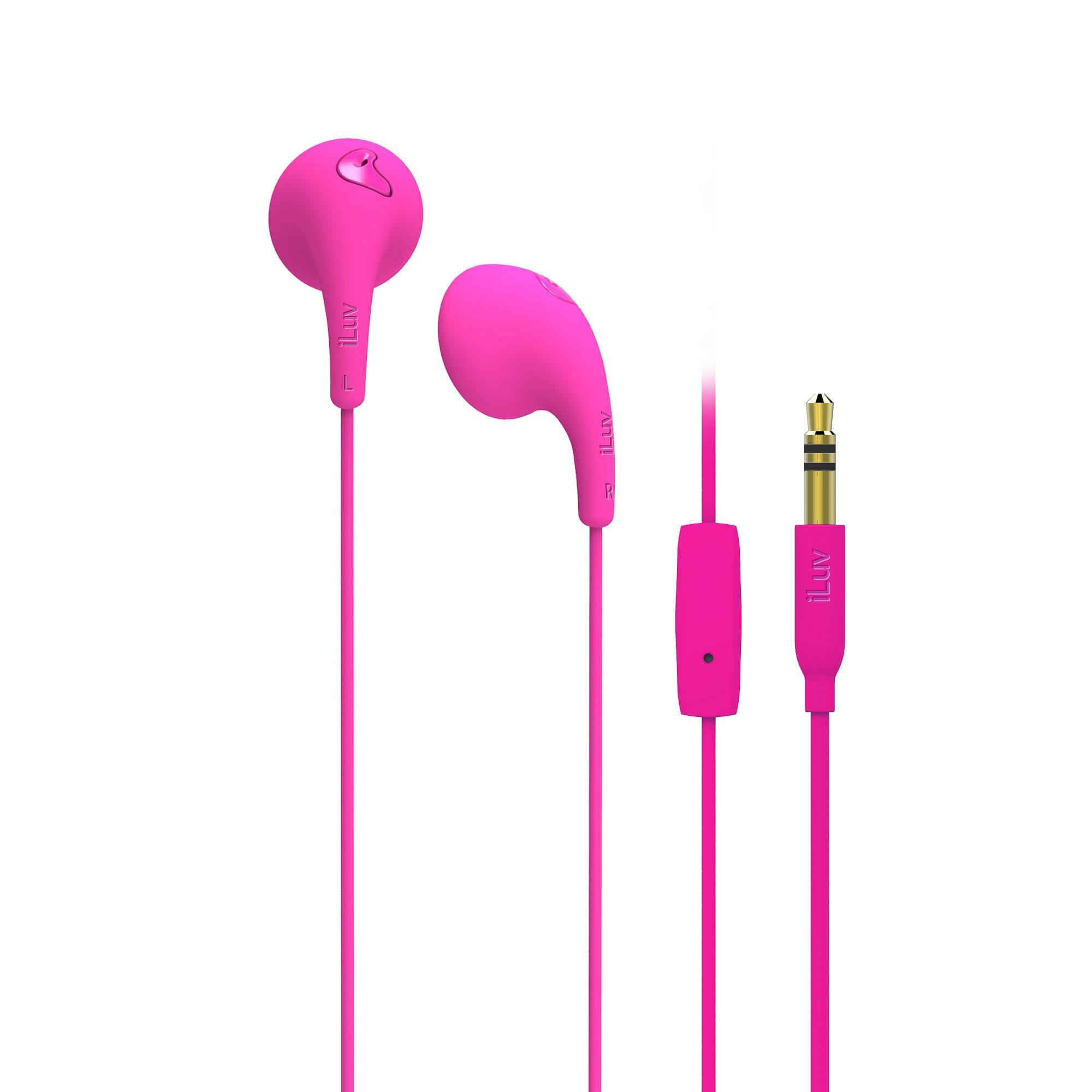 iLuv In Ear Headset »Bubble Gum Talk Pink«