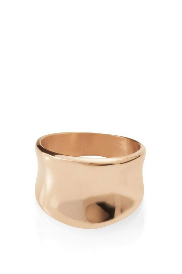 ESPRIT CASUAL Rotgoldfarbener Edelstahl Ring in one colour