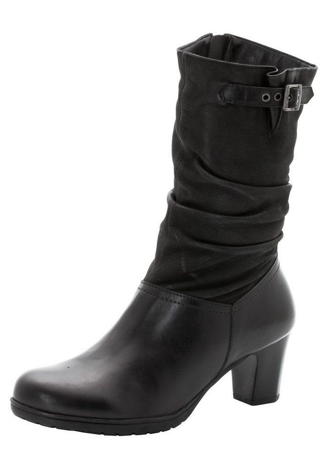 sheego XL-Damenstiefelette mit weitem Schaft in schwarz