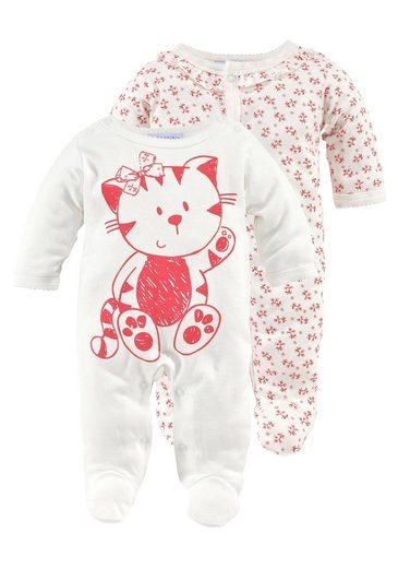 Klitzeklein Schlafanzug (Packung, 2-tlg) mit süßem Katzen- Motiv