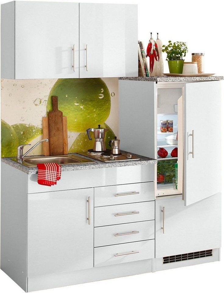 HELD MÖBEL Single-Küche »Toledo«, Breite 160 cm, Inklusive Kochmulde und  Kühlschrank online kaufen | OTTO