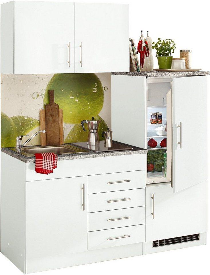 HELD MÖBEL Single-Küche »Toledo«, Breite 160 cm, Inklusive  Glaskeramik-Kochfeld und Kühlschrank online kaufen | OTTO
