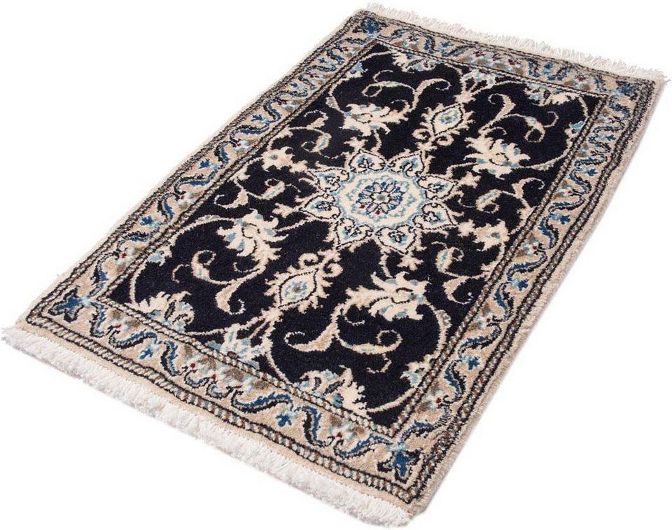 Orient-Teppich, Parwis, »Nain Khorasan5«, 180 000 Knoten/m², handgeknüpft, Unikat in dunkelblau