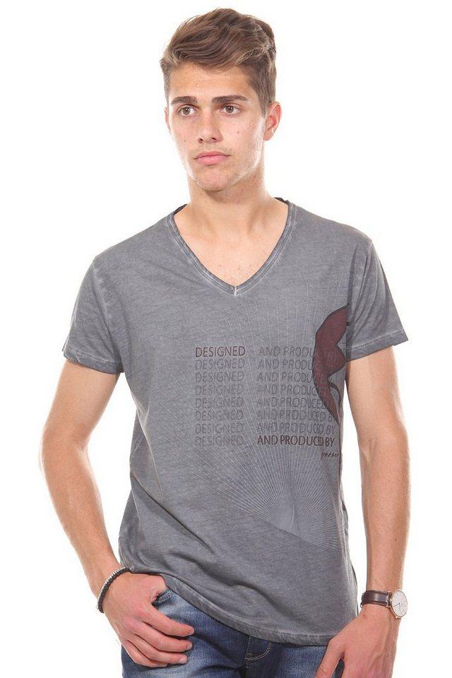 JENERIC T-Shirt V-Ausschnitt regular fit in anthrazit
