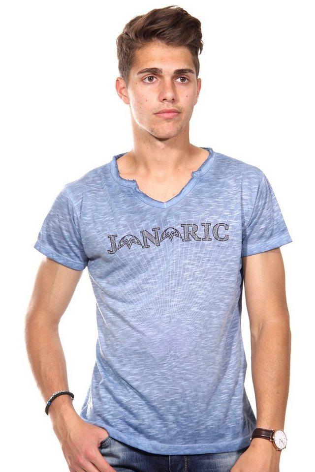 JENERIC T-Shirt V-Ausschnitt regular fit in dunkelblau