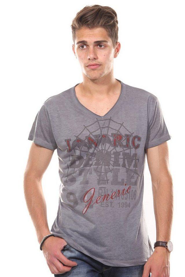 JENERIC T-Shirt V-Ausschnitt regular fit in grau