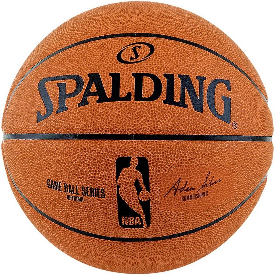 SPALDING NBA Gameball Replica Outdoor Basketball in braun