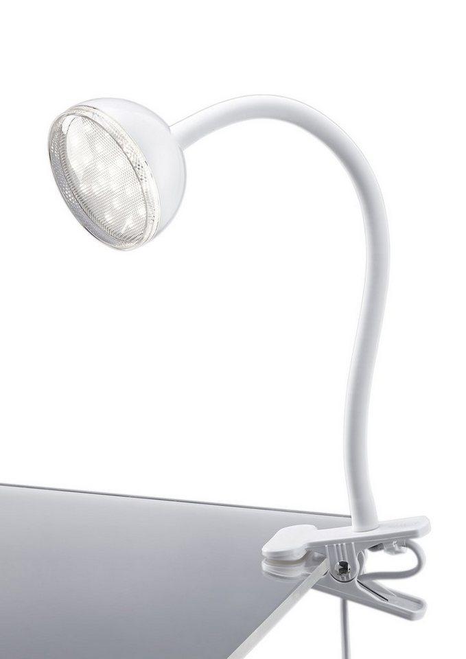 LED-Klemmleuchte, Trio (1flg.) in weiß glänzend