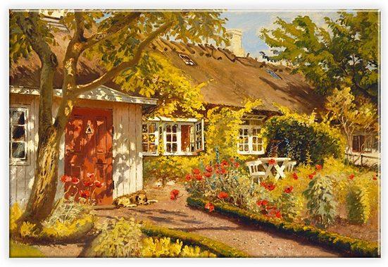 Home affaire Leinwandbild »Olaf Viggo Peter Langer - Das Gartenhaus«, in 2 Größen